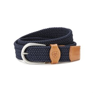 BELT ARIAT ONE RAIL WOVEN NAVY XSMALL / SMALL