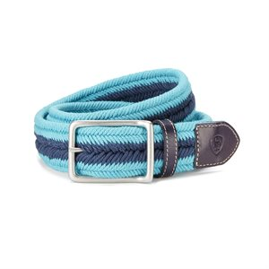 BELT ARIAT 2 COLORS SQUARE BUCKLE NAVY / TURQUOISE