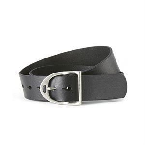 ARIAT LEATHER STIRRUP BELT BLACK