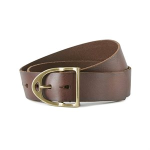 ARIAT LEATHER BELT WITH STIRRUP BROWN XS
