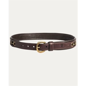 BELT NOBLE W /  BROWN BIT
