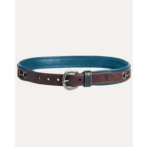 BROWN AND TURQUOISE BELT NOBLE W /  BIT