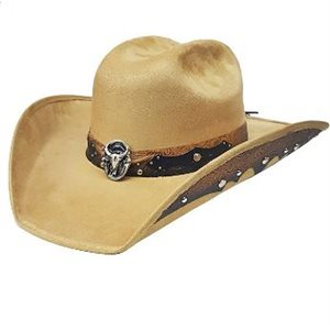 CHAPEAU COWBOY SUEDE TAN 9783 MEDIUM
