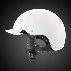 CASQUE CONDUCTEUR BLANC FIBRE DE CARBONE