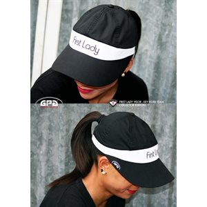 CASQUETTE FIRST LADY  NOIR / BLANC GPA