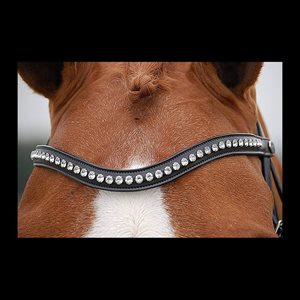 BROWBAND WHITE SWAROVSKI DY'ON BLACK FULL