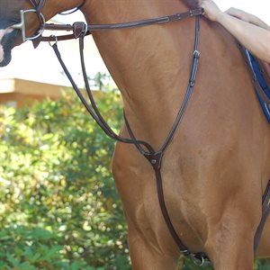 MARTINGALE A ANNEAUX DYON STYLE RUNNING HUNTER BRUNE