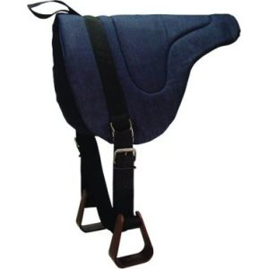 12'' BAREBACK SADDLE PAD W / STIRRUPS BLACK
