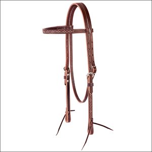 BOOT STITCH BROWBAND HEADSTALL SUNSET