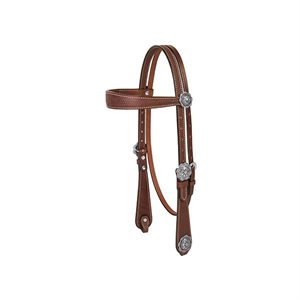 BRIDLE BASIN COWBOY BROWBAND HEADSTALL