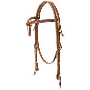 DELUXE LATIGO LEATHER KNOTTED BRWOBAND HEADSTALL