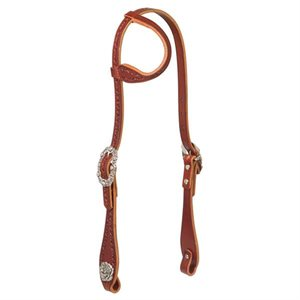 FILIGREE BORDER SLIDING EAR HEADSTALL