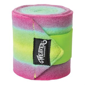 BANDAGES POLO PAQUET 4 LIME ET ROSE WEAVER