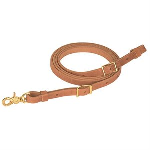 EXTRA HEAVY HARNESS LEATHER FLAT ROPER REIN