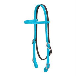 HEADSTALL  ALL PURPOSE STRAISHT BROWNBAND BLUE