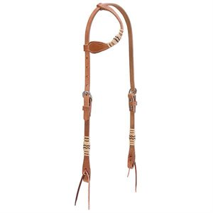 BRIDLE WITH 1 EAR  RAWHIDE ACCENTS