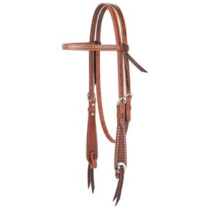 BRIDLE BROWN TURQUOISE CROSS