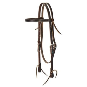 BRIDLE HEADSTALL TURQUOISE CROSS DARK OILED