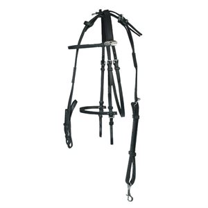 FINN TACK OPEN BRIDLE BETA BLACK