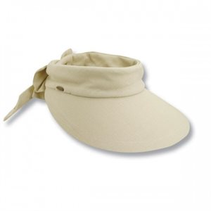 DELUXE COTON VISOR WITH BOW