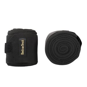BANDAGES ELASTIQUE ET POLAR BACK ON TRACK NOIR ONE SIZE