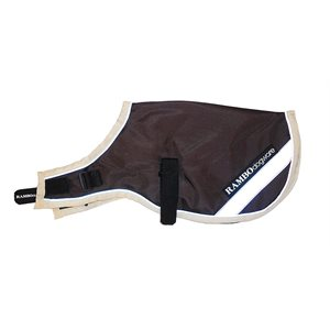 COUV. RAMBO IMPERMEABLE BRUNE / CREME POUR CHIEN 100GR