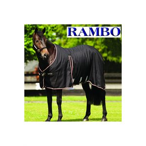 BLANKET RAMBO OPTIMO STAB SHT 3 SUR BLACK / TAN / ORANGE