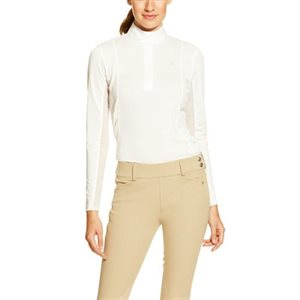 CHEMISE ARIAT SUNSTOPPER SHOW TOP BLANC