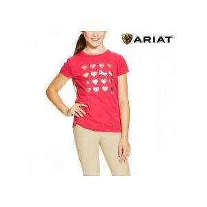 ARIAT TEE SHIRT WITH HEARTS FUCSHIA