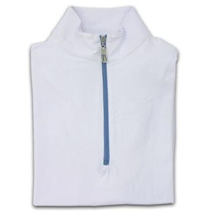 CHEMISE SOLEIL TAILORED SPORTSMAN ICEFILL ZIPTOP BLANC ZIP COLORÉ