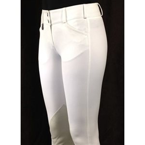 PANT. PIKEUR CIARA KNEE PATCH BLANC