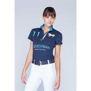 ASMAR CONTINENTAL POLO DRESSAGE NAVY / TUQUOISE
