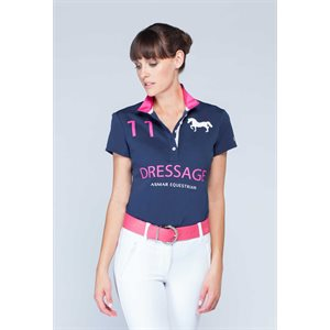 CHEMISE ASMAR CONTINENTAL POLO DRESSAGE NAVY / ROSE