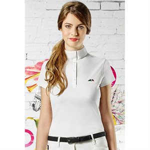 EQUILINE X-FIT ISABEL WOMAN POLO SHIRT W SLEEVES BLANC
