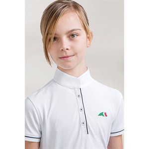 EQUILINE COMPETITION POLO SHIRT SELENA SHORT SLEEVES WHITE