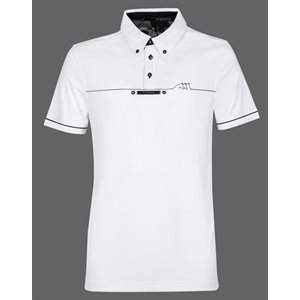 EQUILINE MEN WHITE COMPETITION SHIRT LINDEN