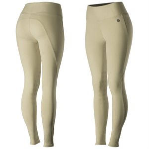 PANTALON HORZE LEGGING JULIET BEIGE KNEE PATCH