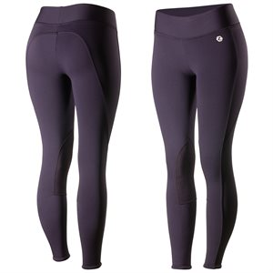 BREECHES HORZE ACTIVE WOMEN KNEE PATCH WINTER TIGHTS PURPLE