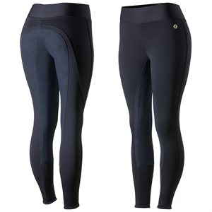 BREECHES HORZE ACTIVE WOMEN FULL SEAT WINTER TIGHTS PURPLE