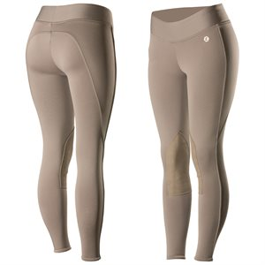 BREECHES HORZE ACTIVE WOMEN KNEE PATCH  WINTER TIGHTS TAN