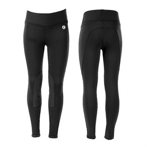 BREECHES HORZE ACTIVE KIDS FULL SEAT WINTER TIGHTS BLACK