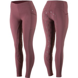 PANT. HORZE LEAH FEMME BOURGOGNE FULL SEAT SILICONE